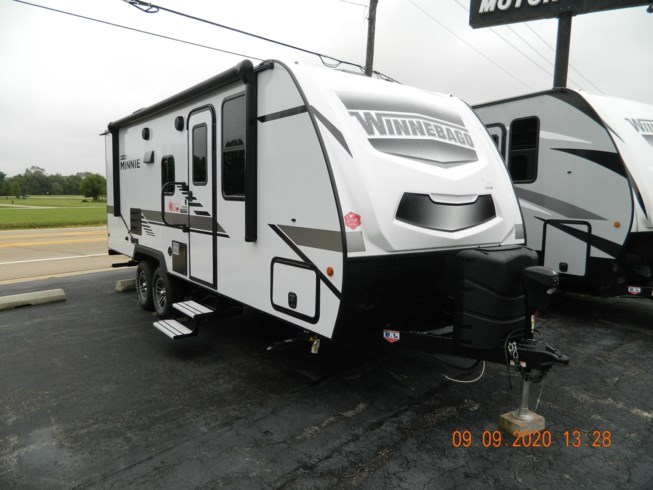 2021 Winnebago Micro Minnie 2306BHS - New Travel Trailer For Sale by Winnebago Motor Homes in Rockford, Illinois features Air Conditioning, Auxiliary Battery, Awning, Booth Dinette, Bunk Beds, CD Player, CO Detector, Convection Microwave, Converter, DVD Player, Exterior Speakers, External Shower, Furnace, Ladder, Leveling Jacks, LP Detector, Medicine Cabinet, Power Roof Vent, Queen Bed, Refrigerator, Roof Vents, Self Contained, Shower, Skylight, Slideout, Smoke Detector, Spare Tire Kit, Stove Top Burner, Toilet, TV, TV Antenna, Water Heater