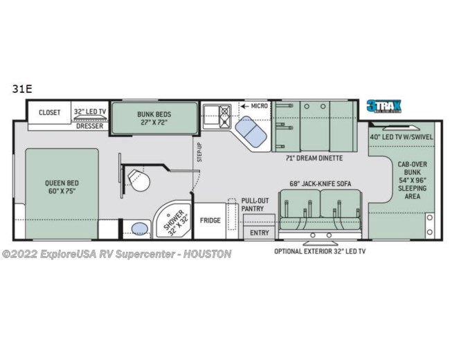 2020 Four Winds 31E by Thor Motor Coach from ExploreUSA RV Supercenter - ALVIN, TX in Houston, Texas