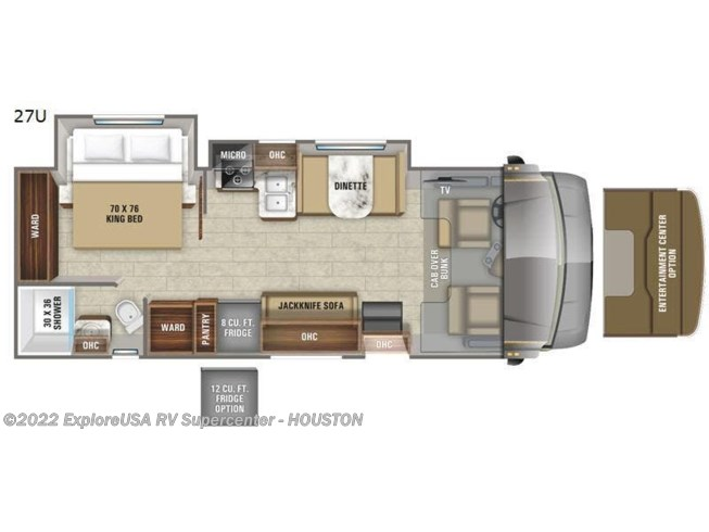 2020 Jayco Greyhawk 27U - New Class C For Sale by ExploreUSA RV Supercenter - ALVIN, TX in Houston, Texas features Slideout