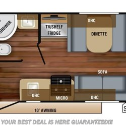 2018 Jayco Jay Feather X17Z floorplan image