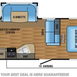 2018 Jayco Jay Flight 24RBS floorplan image