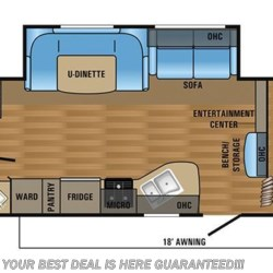 2018 Jayco Jay Flight SLX 287BHSW floorplan image