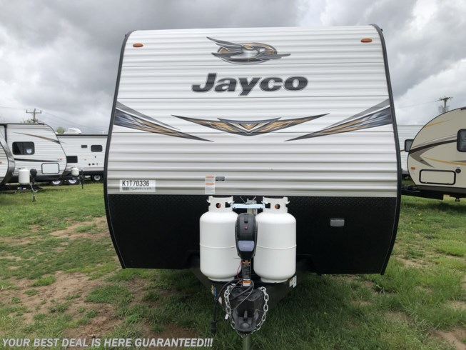 2019 Jayco Jay Flight 28RLS - New Travel Trailer For Sale by Delmarva RV Center in Milford, Delaware features Air Conditioning, Auxiliary Battery, Awning, Booth Dinette, CD Player, CO Detector, DVD Player, Exterior Speakers, External Shower, Leveling Jacks, LP Detector, Medicine Cabinet, Microwave, Oven, Queen Bed, Refrigerator, Rocker Recliner(s), Roof Vents, Shower, Skylight, Slideout, Smoke Detector, Spare Tire Kit, Stove Top Burner, Surround Sound System, Toilet, TV, Water Heater