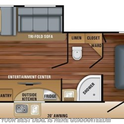 2018 Jayco White Hawk 26RK floorplan image