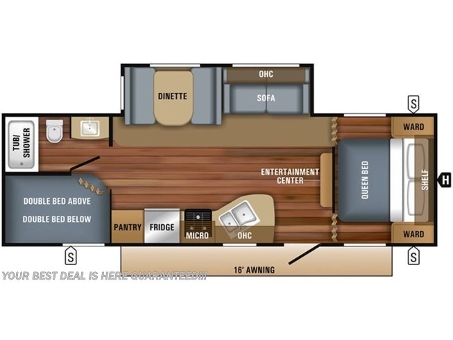 2019 Jayco Jay Flight SLX 267BHS floorplan image