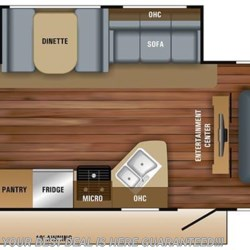 2018 Jayco Jay Feather 25BH floorplan image