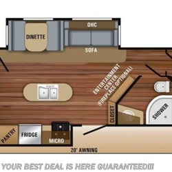 2019 Jayco Jay Flight 33RBTS floorplan image