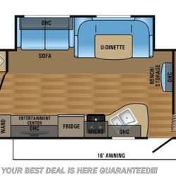 2017 Jayco Jay Flight SLX 284BHSW floorplan image