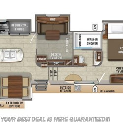 2019 Jayco Pinnacle 37MDQS floorplan image