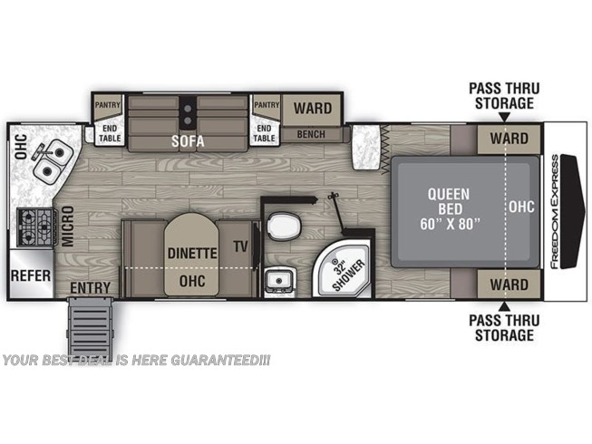 2020 Coachmen Freedom Express LTZ 246RKS floorplan image