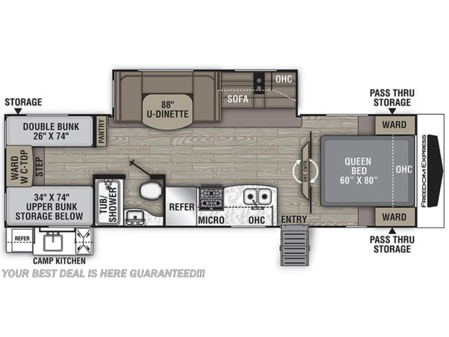 2021 Coachmen Freedom Express Liberty Edition 292BHDSLE floorplan image