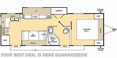 Floorplan of 2013 Coachmen Catalina 25RKS