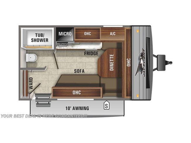 2021 Jayco Jay Flight SLX 145RB floorplan image