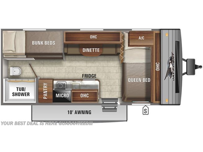 2021 Jayco Jay Flight SLX 174BH floorplan image