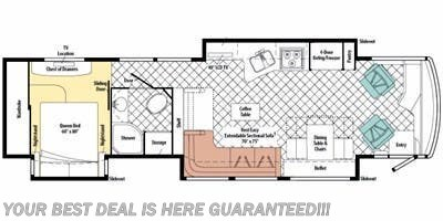 2010 Itasca Ellipse 40BD floorplan image