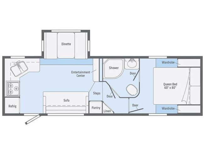 2019 Winnebago Minnie Plus 25RKS floorplan image