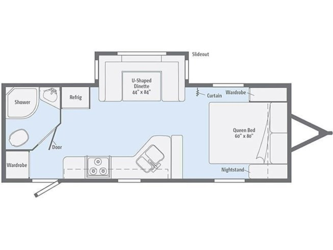 2019 Winnebago Minnie 2250DS floorplan image
