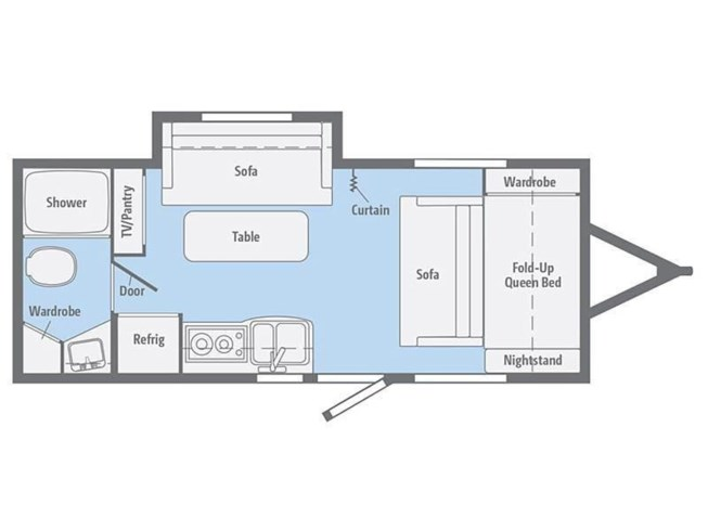 2019 Winnebago Micro Minnie 2106DS floorplan image