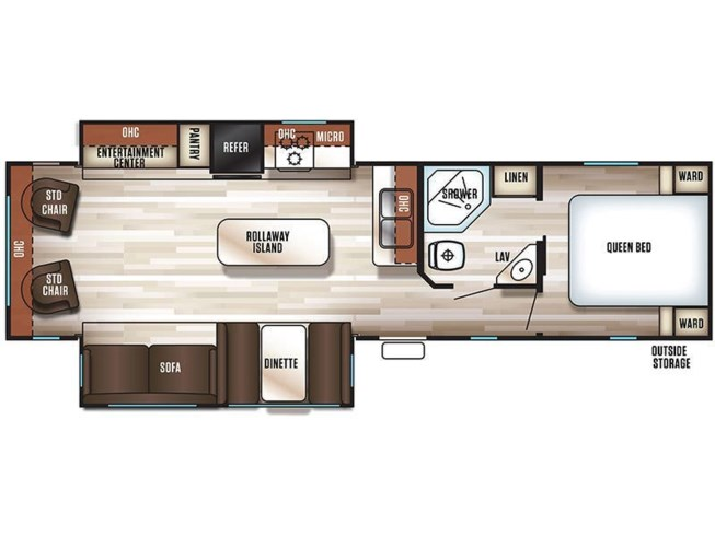 2019 Forest River Cherokee 304R floorplan image