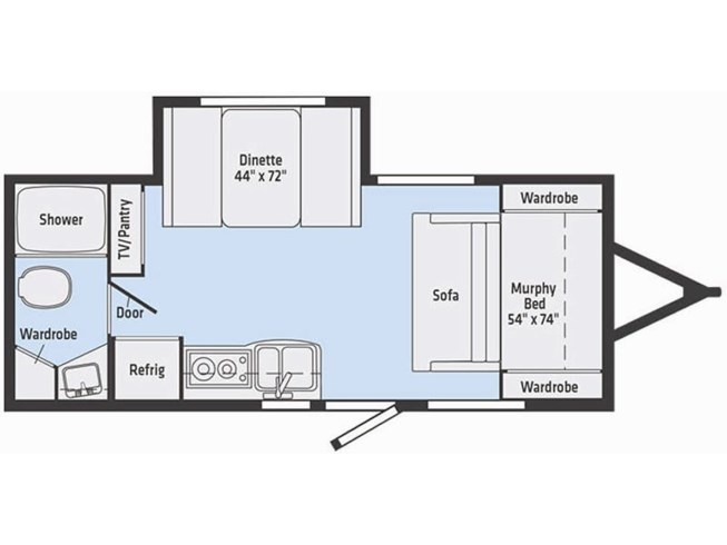 2019 Winnebago Micro Minnie 2108DS floorplan image