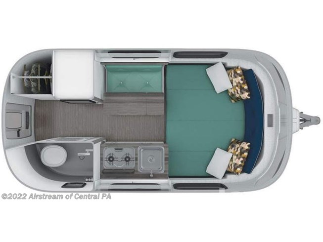 Floorplan of 2020 Airstream Nest 16FB