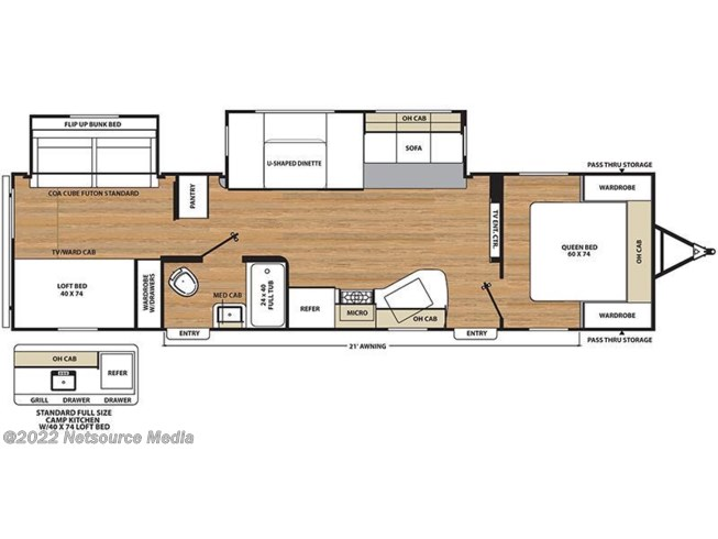 2018 Coachmen Catalina 323BHDS CK floorplan image