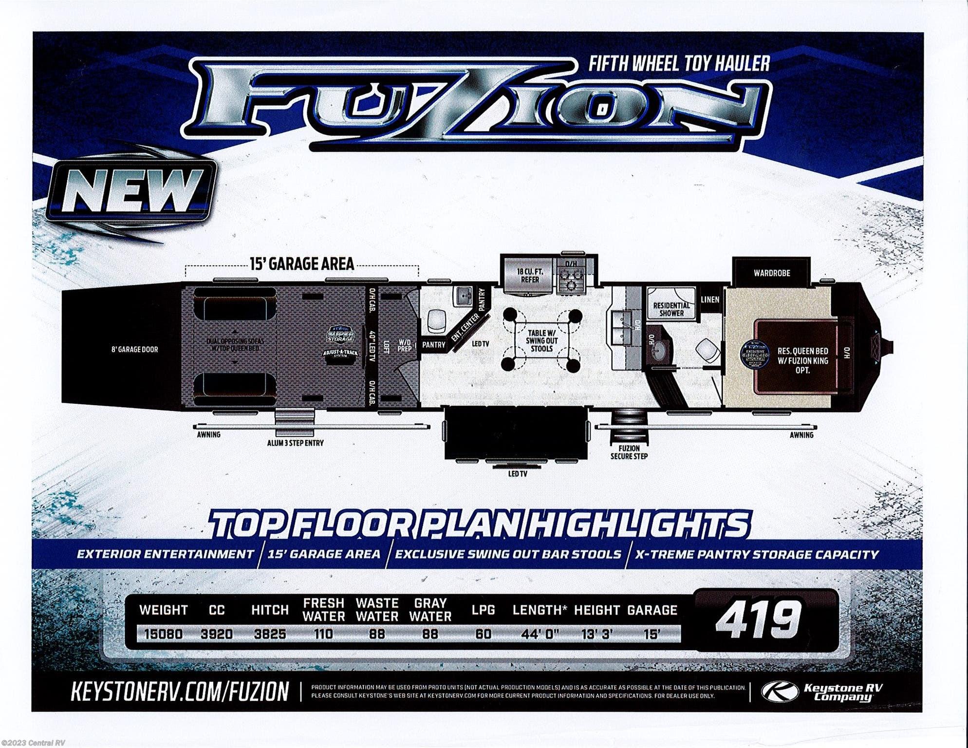 2019 Keystone Rv Fuzion 419 For Sale In Ottawa Ks 66067 659784 Cable Tv Wiring Diagram Previous