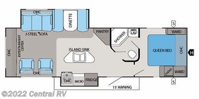 2013 Jayco White Hawk 30DSRE floorplan image