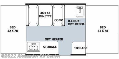 Floorplan of 2013 Forest River Flagstaff 176LTD