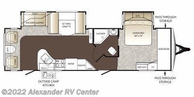 Floorplan of 2014 Keystone Outback 277RL