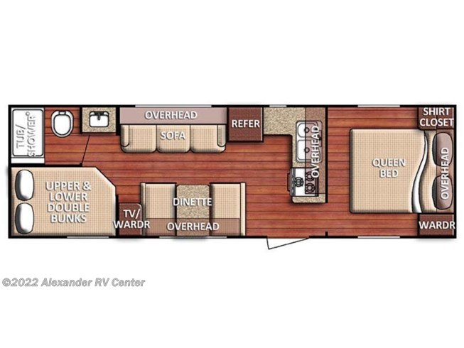 Floorplan of 2021 Gulf Stream Conquest 275-FBG
