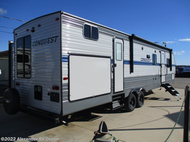 2021 Gulf Stream Conquest 323-TBR - New Travel Trailer For Sale by Alexander RV Center in Clayton, Delaware features Battery Charger, Air Conditioning, Toilet, CO Detector, External Shower