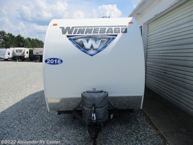 2016 Winnebago Winnie Drop WD170S - Used Travel Trailer For Sale by Alexander RV Center in Clayton, Delaware features Air Conditioning, AM/FM/CD, Auxiliary Battery, Battery Charger, Booth Dinette, CO Detector, Converter, DVD Player, Exterior Speakers, Furnace, Leveling Jacks, LP Detector, Medicine Cabinet, Microwave, Non-Smoking Unit, Outside Entertainment Center, Outside Kitchen, Queen Bed, Refrigerator, Roof Vents, Shower, Skylight, Slideout, Smoke Detector, Spare Tire Kit, Stove Top Burner, Toilet, TV Antenna, Water Heater