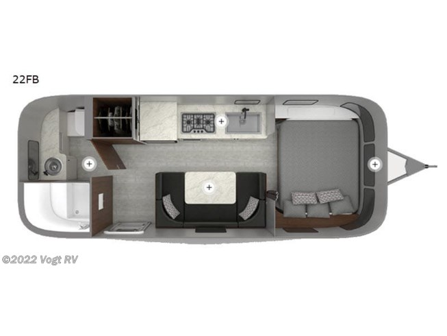 2020 Airstream Caravel 22FB - New Travel Trailer For Sale by Vogt RV in Fort Worth, Texas