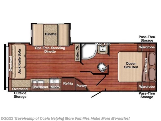 2021 Gulf Stream Amerilite 236RL - New Travel Trailer For Sale by Travelcamp of Ocala in Summerfield, Florida