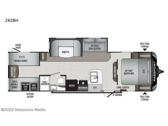 2020 Keystone Passport 292BH SL Series - New Travel Trailer For Sale by Big Daddy's RV in London, Kentucky features Slideout