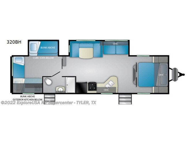 2020 Heartland Prowler 320BH - New Travel Trailer For Sale by ExploreUSA RV Supercenter - TYLER, TX in Tyler, Texas features Slideout