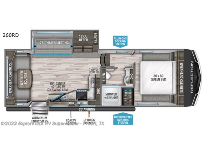 2021 Grand Design Reflection 150 Series 260RD - New Fifth Wheel For Sale by ExploreUSA RV Supercenter - TYLER, TX in Tyler, Texas features Slideout