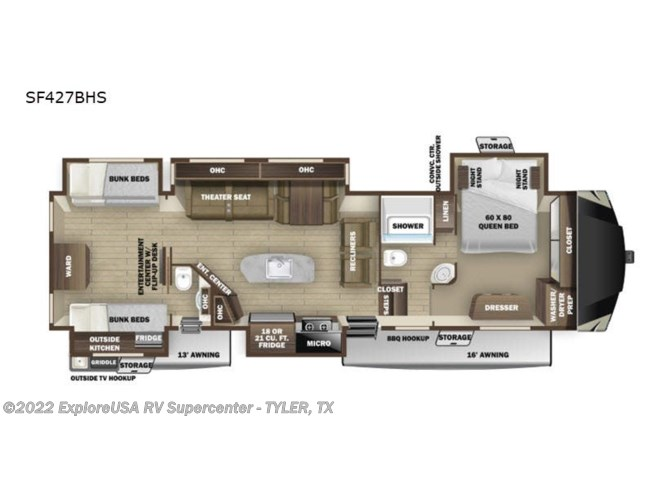 New 2020 Highland Ridge Silverstar SF427BHS available in Tyler, Texas