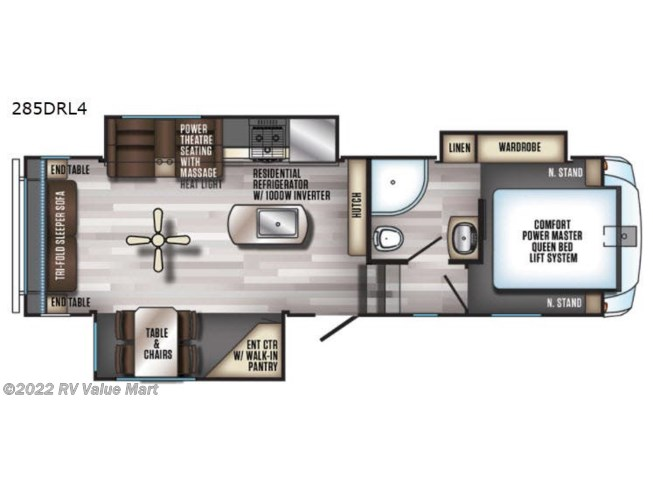 2019 Forest River Cherokee Arctic Wolf 285DRL4 - Used Fifth Wheel For Sale by RV Value Mart in Bath, Pennsylvania features Slideout