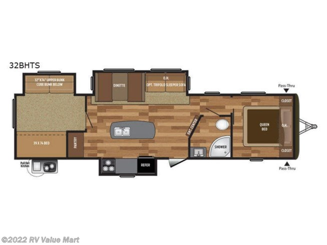 2017 Keystone Hideout 32BHTS - Used Travel Trailer For Sale by RV Value Mart in Bath, Pennsylvania features Slideout