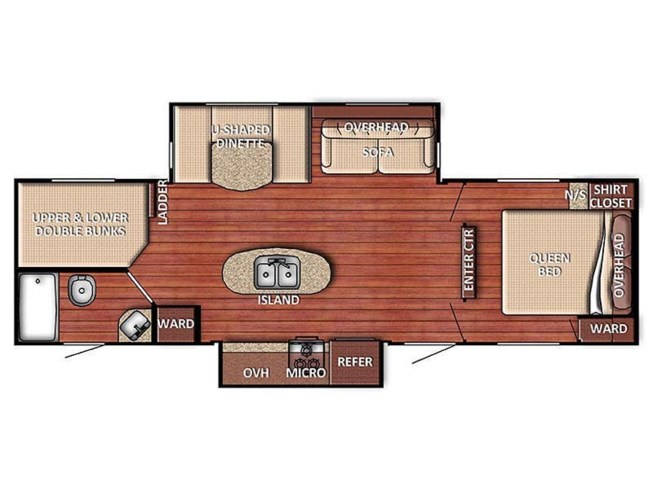 Floorplan of 2020 Gulf Stream Conquest 288ISL