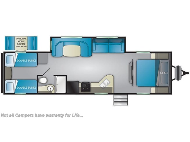 Floorplan of 2021 Heartland Trail Runner 30USBH