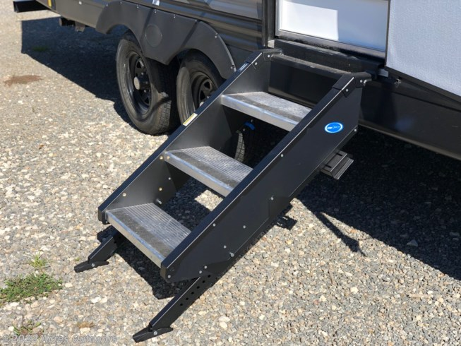 The ultimate stable set of stairs.  just lift up, hook and close the door when you're ready to get back on the road!