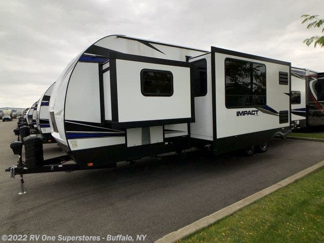 2020 Keystone Impact Travel Trailer Toy Hauler - New Travel Trailer For Sale by RV One Superstore Buffalo in West Seneca, New York features Awning