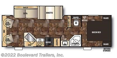 2014 Forest River Grey Wolf 26RL floorplan image