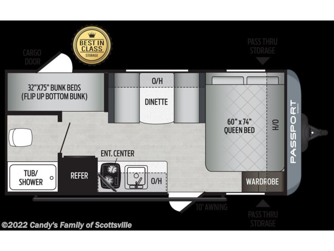 2021 Keystone Passport SL Series - New Travel Trailer For Sale by Candy's Family of Scottsville in Scottsville, Kentucky