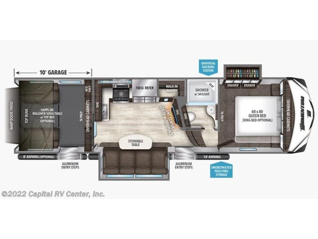 2017 Grand Design Momentum 328M floorplan image