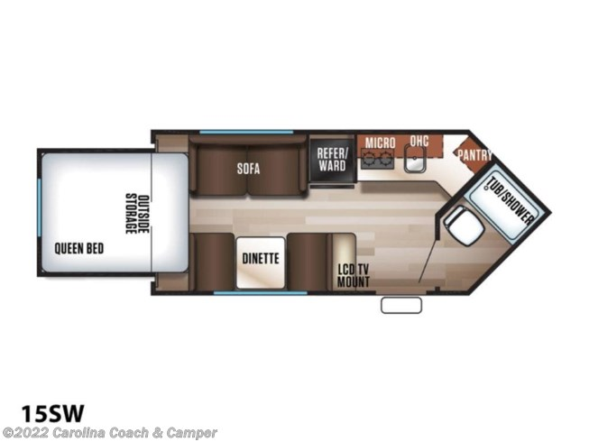2019 Forest River Cherokee Wolf Pup 15SW - New Travel Trailer For Sale by Carolina Coach & Marine in Claremont, North Carolina