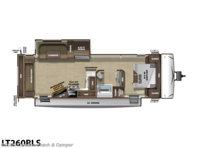 2020 Highland Ridge Light LT260RLS - New Travel Trailer For Sale by Carolina Coach & Marine in Claremont, North Carolina